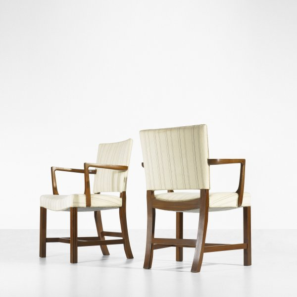 108: Kaare Klint Barcelona chairs, pair