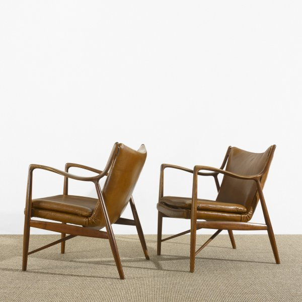 259: Finn Juhl armchairs model NV-45, pair