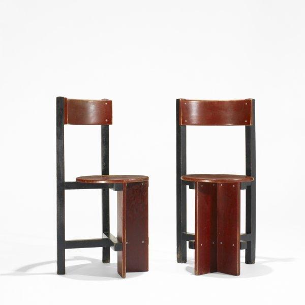 509: Piet Blom pair of Bastille chairs