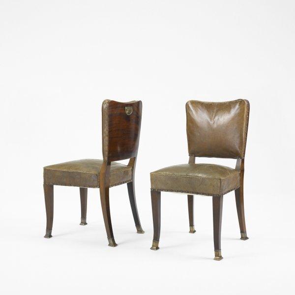 512: Adolf Loos chairs, pair