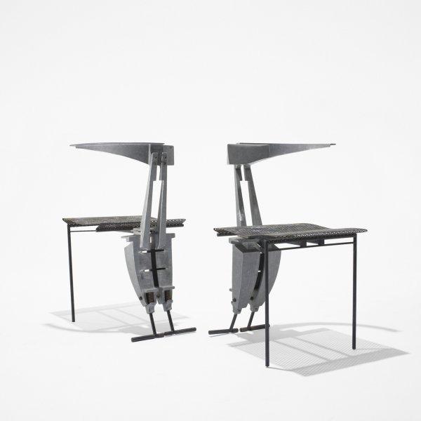 515: Thom Mayne (Morphosis) pair of Nee chairs
