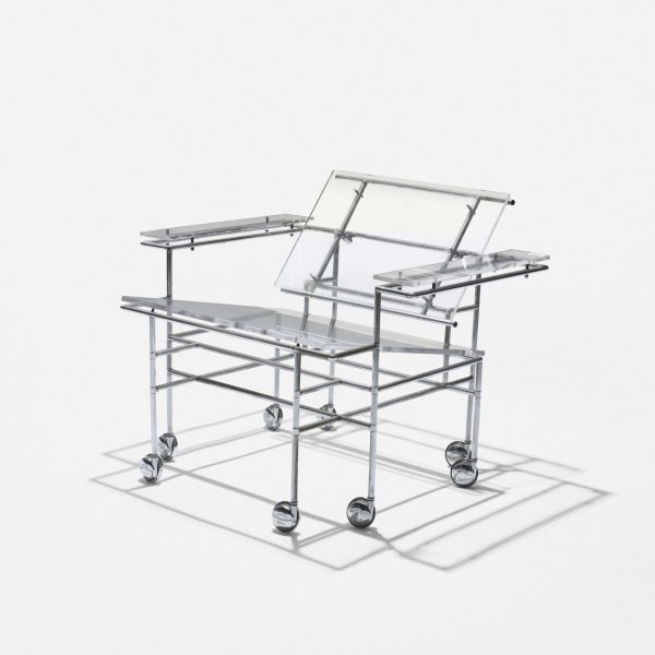 518: Paul Rudolph rolling lounge chair