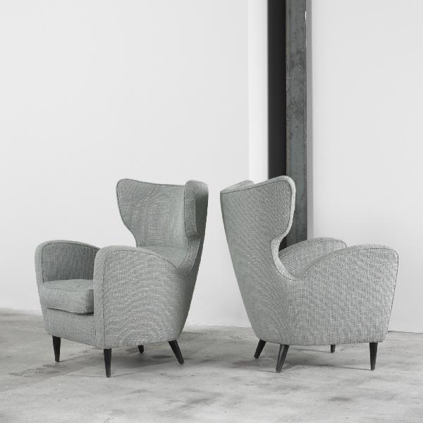 103: Italian lounge chairs, pair