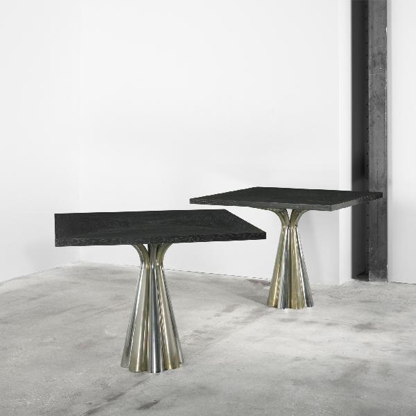 122: Vidal Grau dining tables, pair