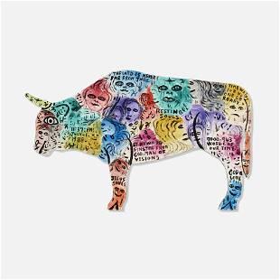Howard Finster, Untitled (Bull)