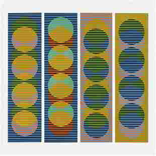 Carlos Cruz-Diez, Sitges I, II, III & IV portfolio