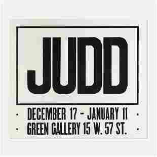 Donald Judd Green Gallery mailer