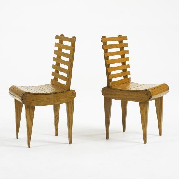 107: American children's chairs, pair