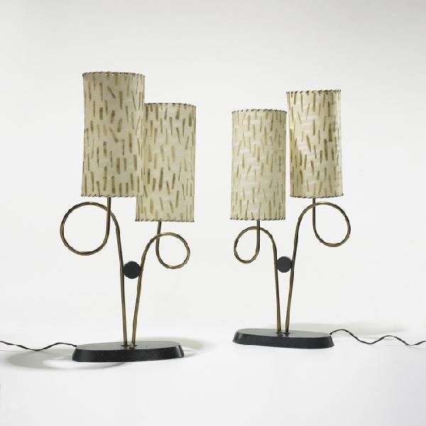 116: American table lamps, pair
