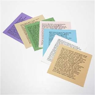 314: Jenny Holzer Inflammatory essays, set of nine