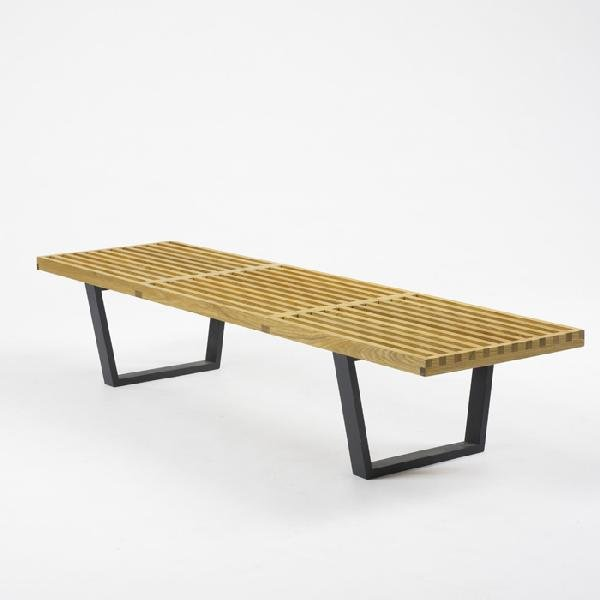 420: George Nelson & Associates slat bench