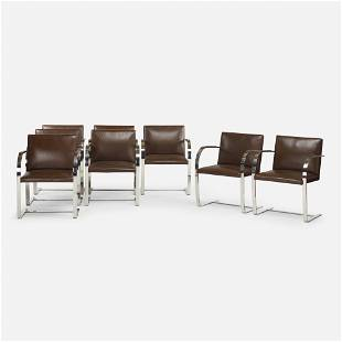 Ludwig Mies van der Rohe, Brno chairs, set of eight