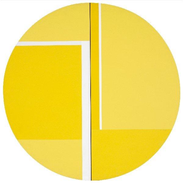 106: Ilya Bolotowsky Yellow Tondo