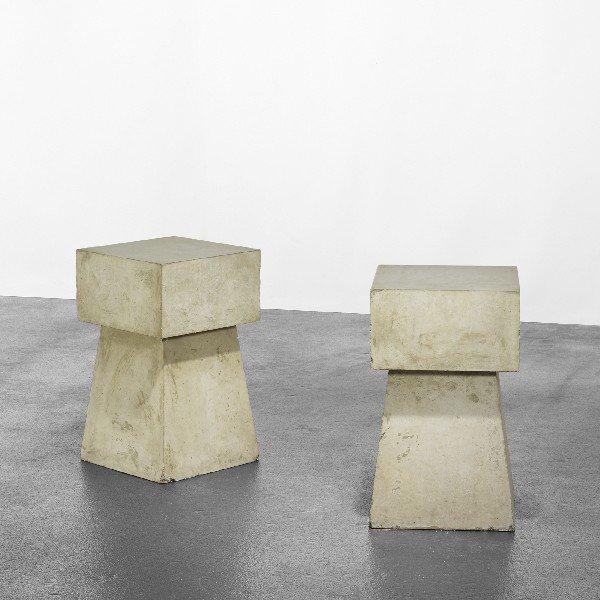 122: Scott Burton Concrete Tables