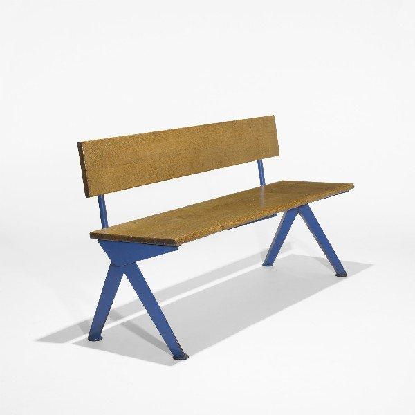102: Jean  Prouvé bench from the Electricité de France