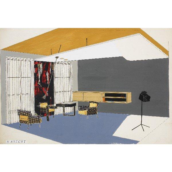 111: Mathieu Matégot untitled (Room Interior)