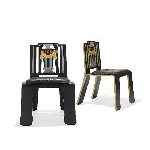 178: Robert Venturi Sheraton chairs, pair