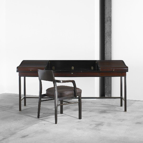 283: Edward Wormley desk with chair, model 452