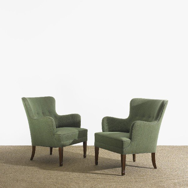 106: Frits Henningsen lounge chairs, pair