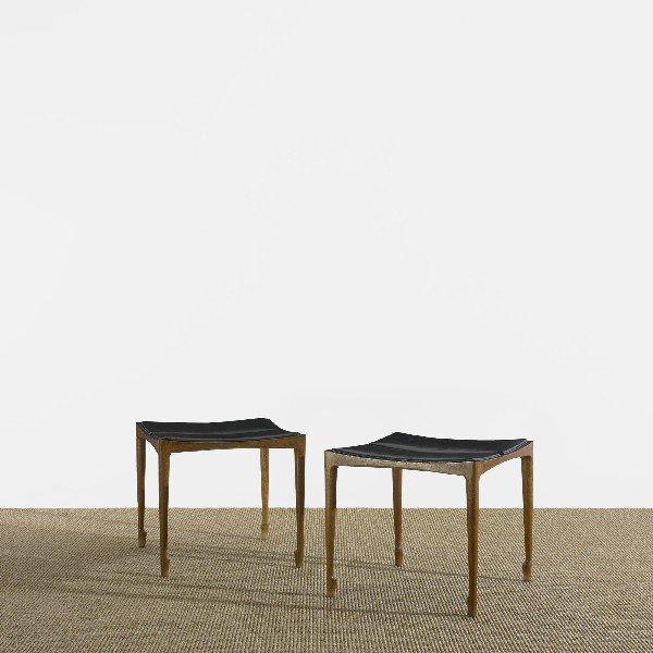 117: Bernt Petersen stools, pair