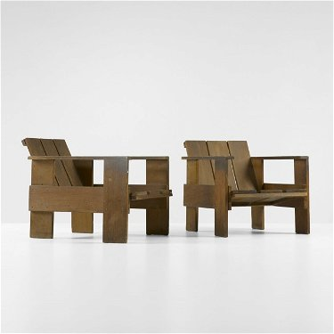 Remarkable 125 Gerrit Rietveld Crate Chairs Pair Download Free Architecture Designs Scobabritishbridgeorg