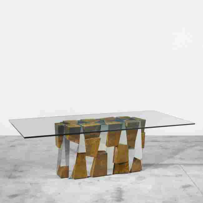 256: Paul Evans Faceted dining table