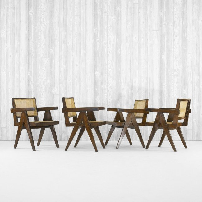 104: Pierre Jeanneret set of four armchairs