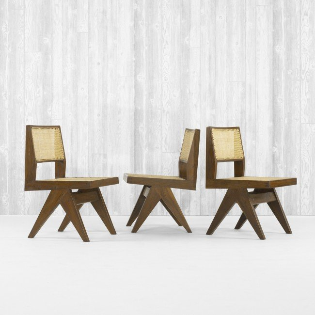 107: Pierre Jeanneret set of four chairs