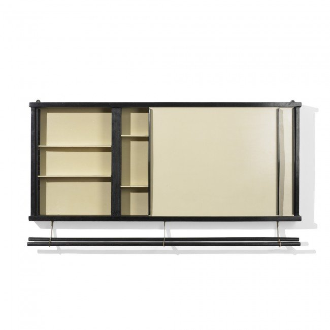 110: Perriand and Prouvé wall-mounted cabinet