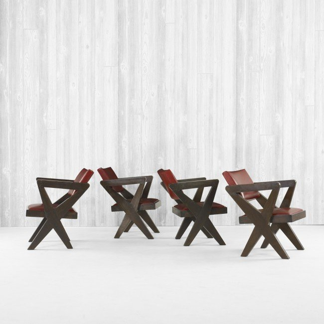 113: Pierre Jeanneret set of four armchairs