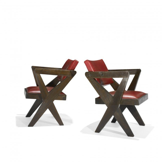 114: Pierre Jeanneret pair of armchairs