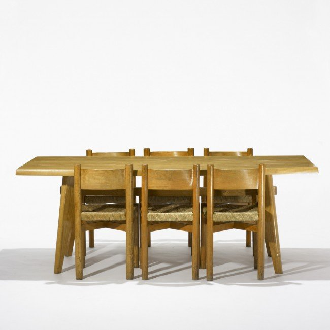122: Perriand and Jeanneret Demountable table & chairs