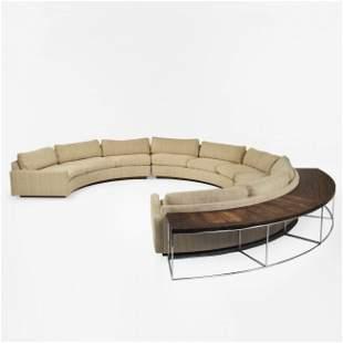 191: Milo Baughman sectional sofa and table
