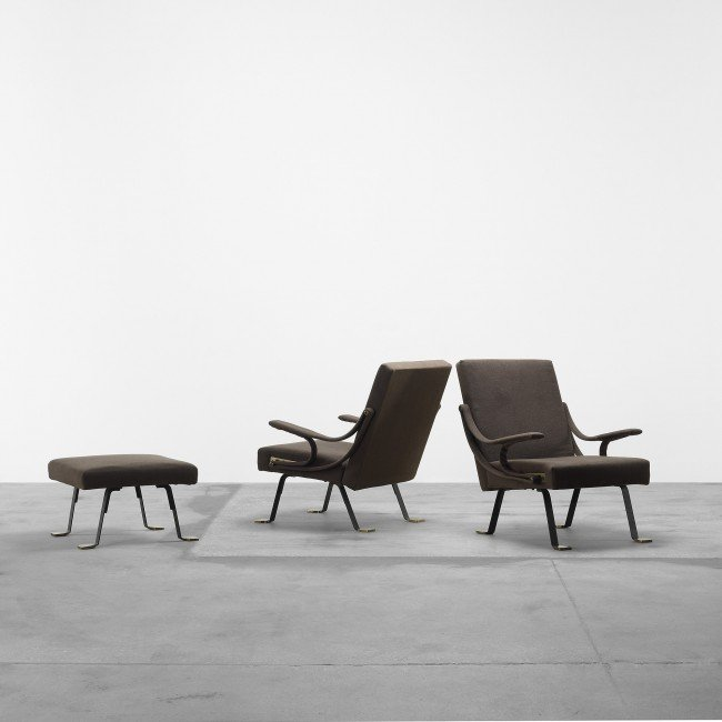 107: Ignazio Gardella Digamma chairs and ottoman