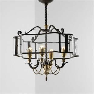 227: Gilbert Poillerat chandelier