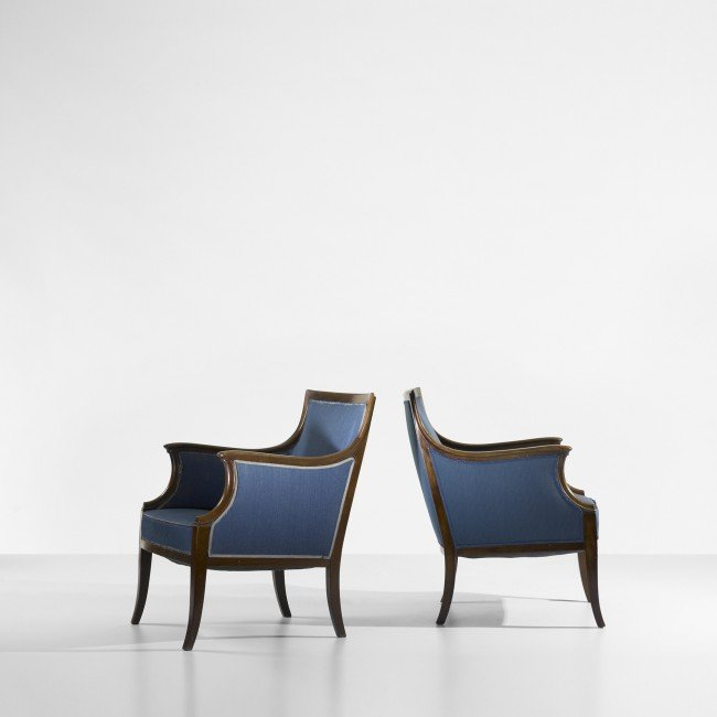103: Frits Henningsen lounge chairs, pair