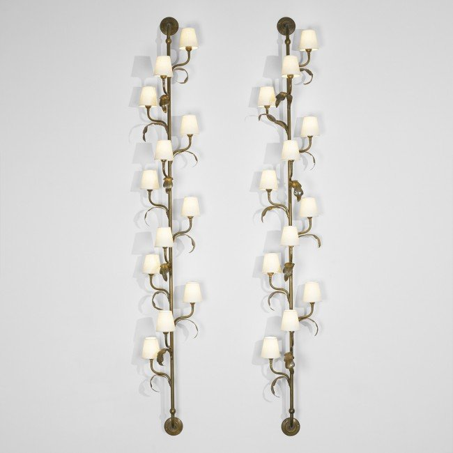 122: Danish sconces, pair
