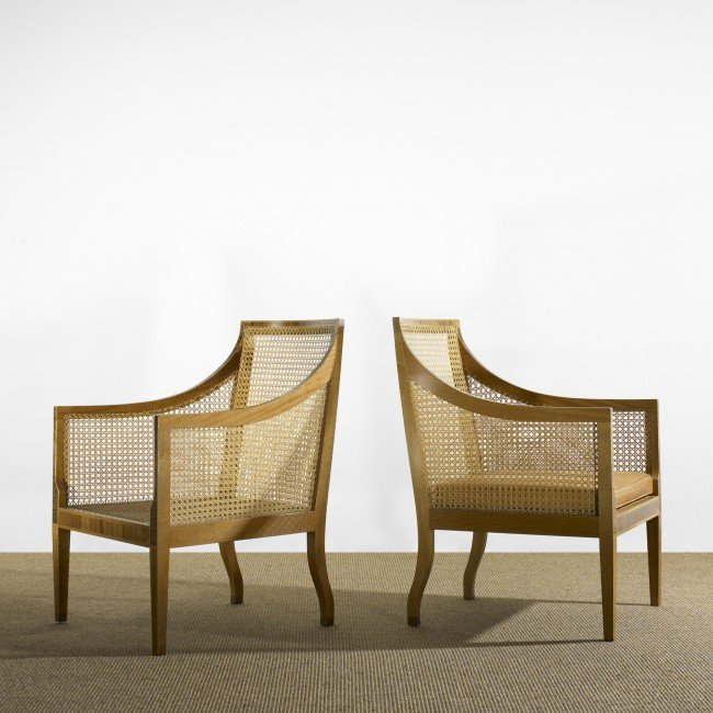 123: Kaare Klint lounge chairs,model 4488, pair