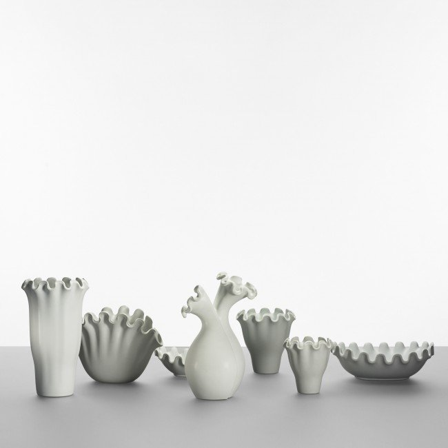 134: Wilhelm Kåge Vaga collection, set of seven vases