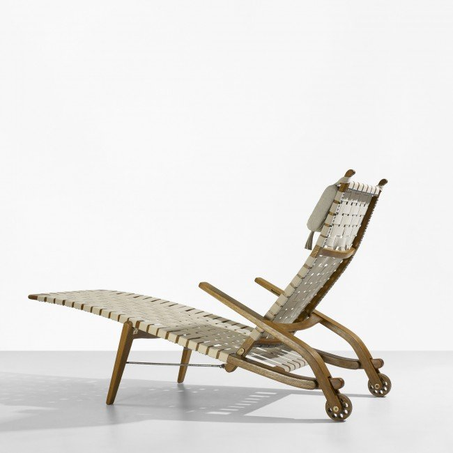 142: Hans Wegner folding chaise