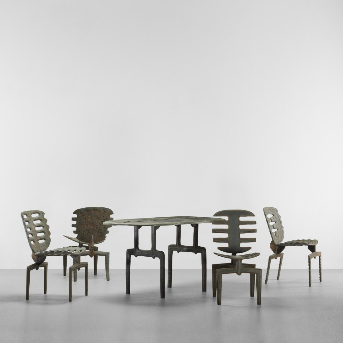105: Terence Main Falls table and Fourth Frond chairs