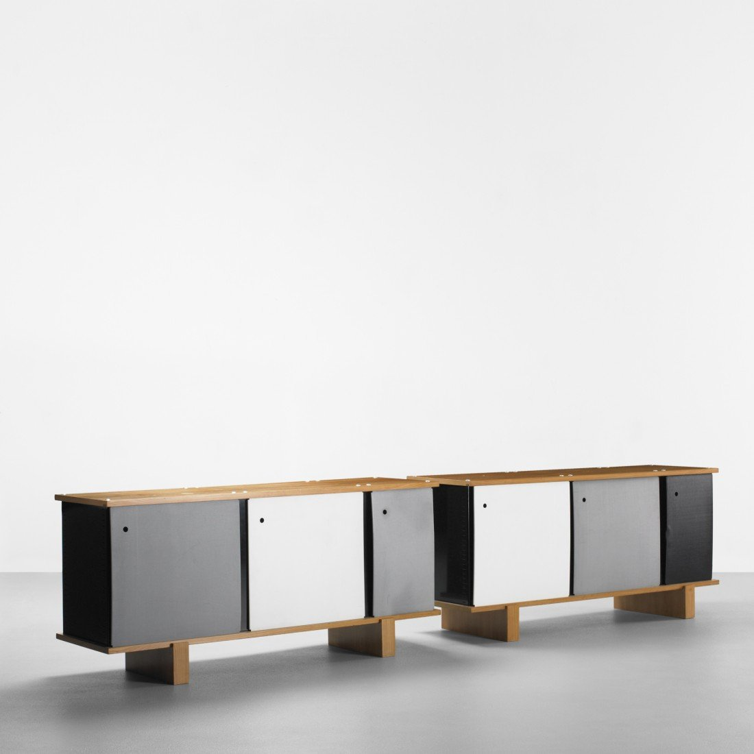 140: Charlotte Perriand Bloc cabinets, pair