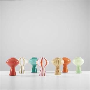 220: Massimo Vignelli Mushroom table lamps, seven