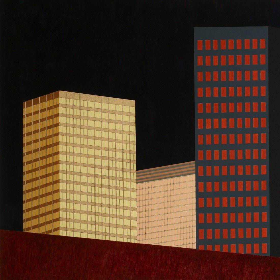 113: Robert Herrmann Night Buildings