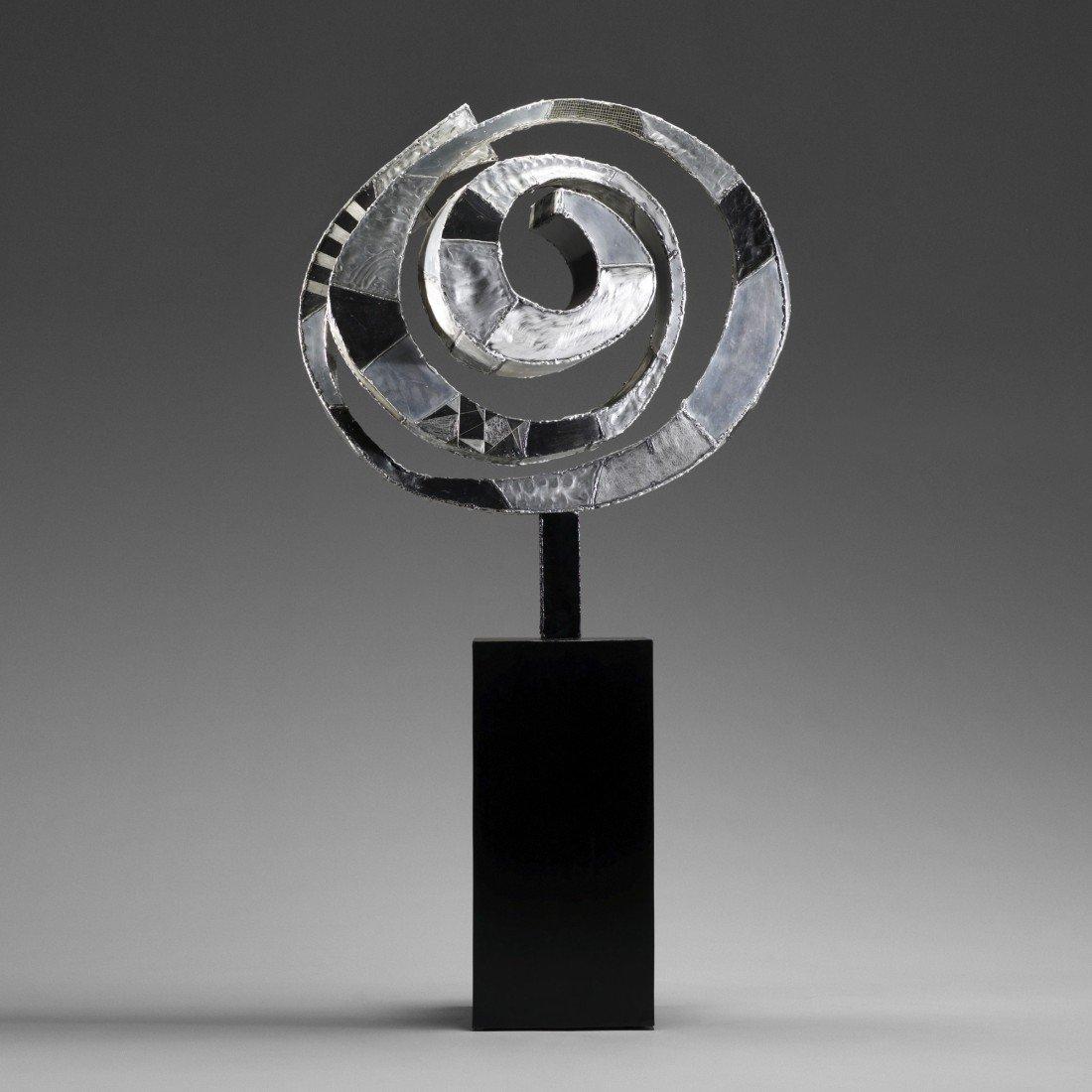 117: Paul Evans Argente Pinwheel sculpture