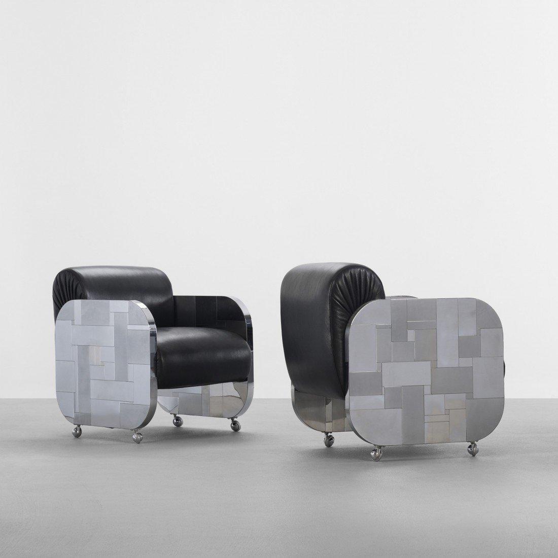 148: Paul Evans Cityscape armchairs, pair