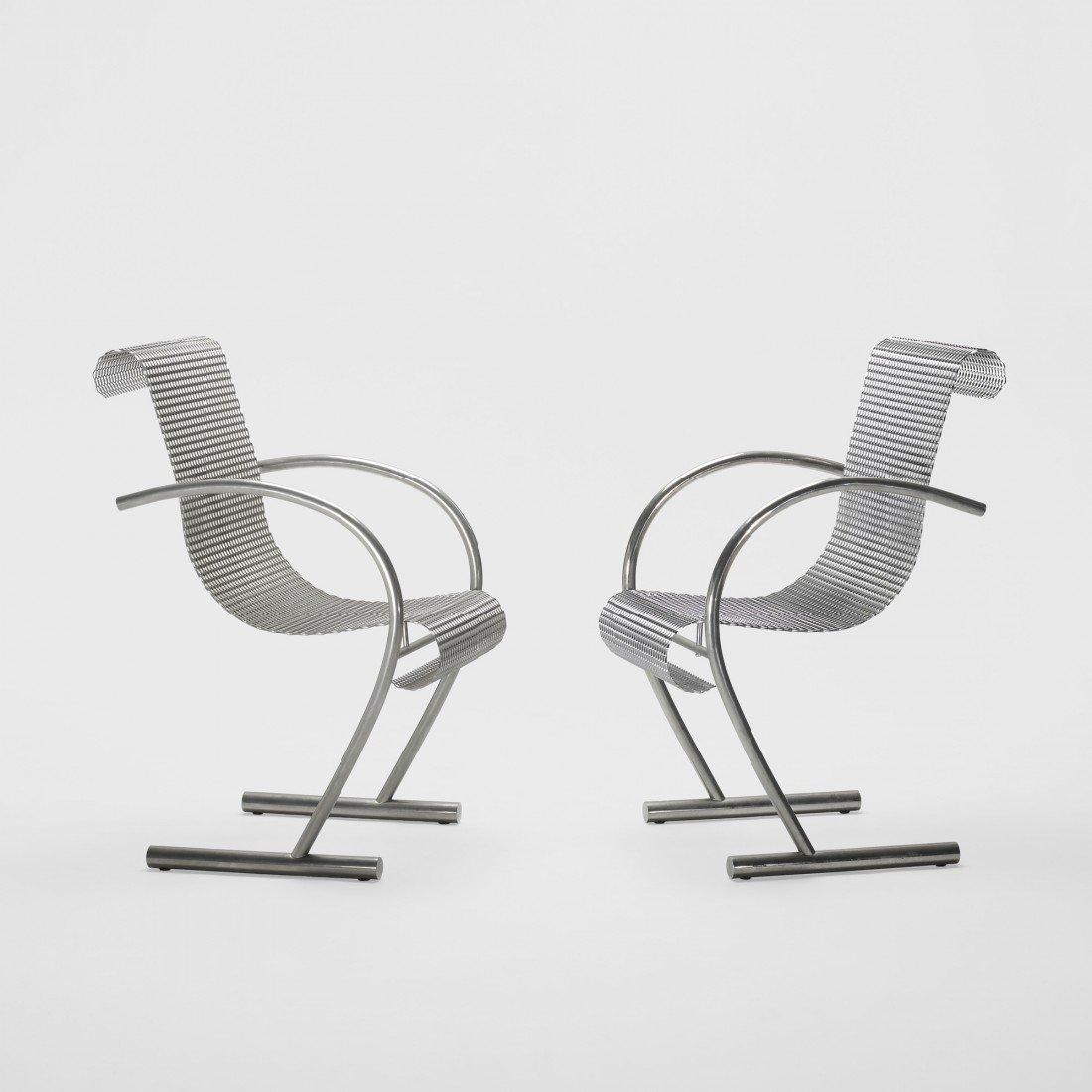 163: Shiro Kuramata Sing Sing Sing chairs, pair