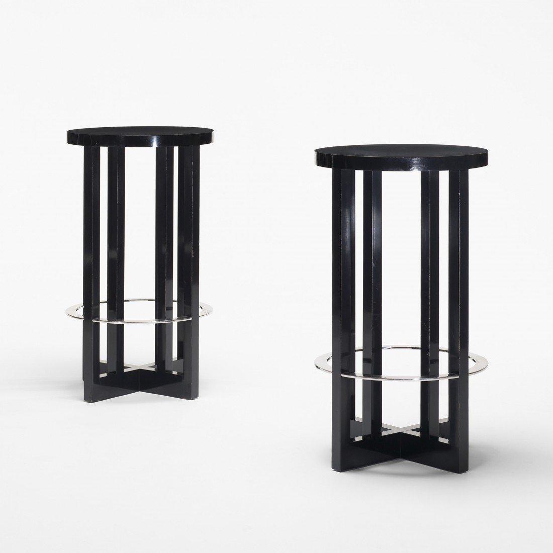 165: Richard Meier High Stools, pair