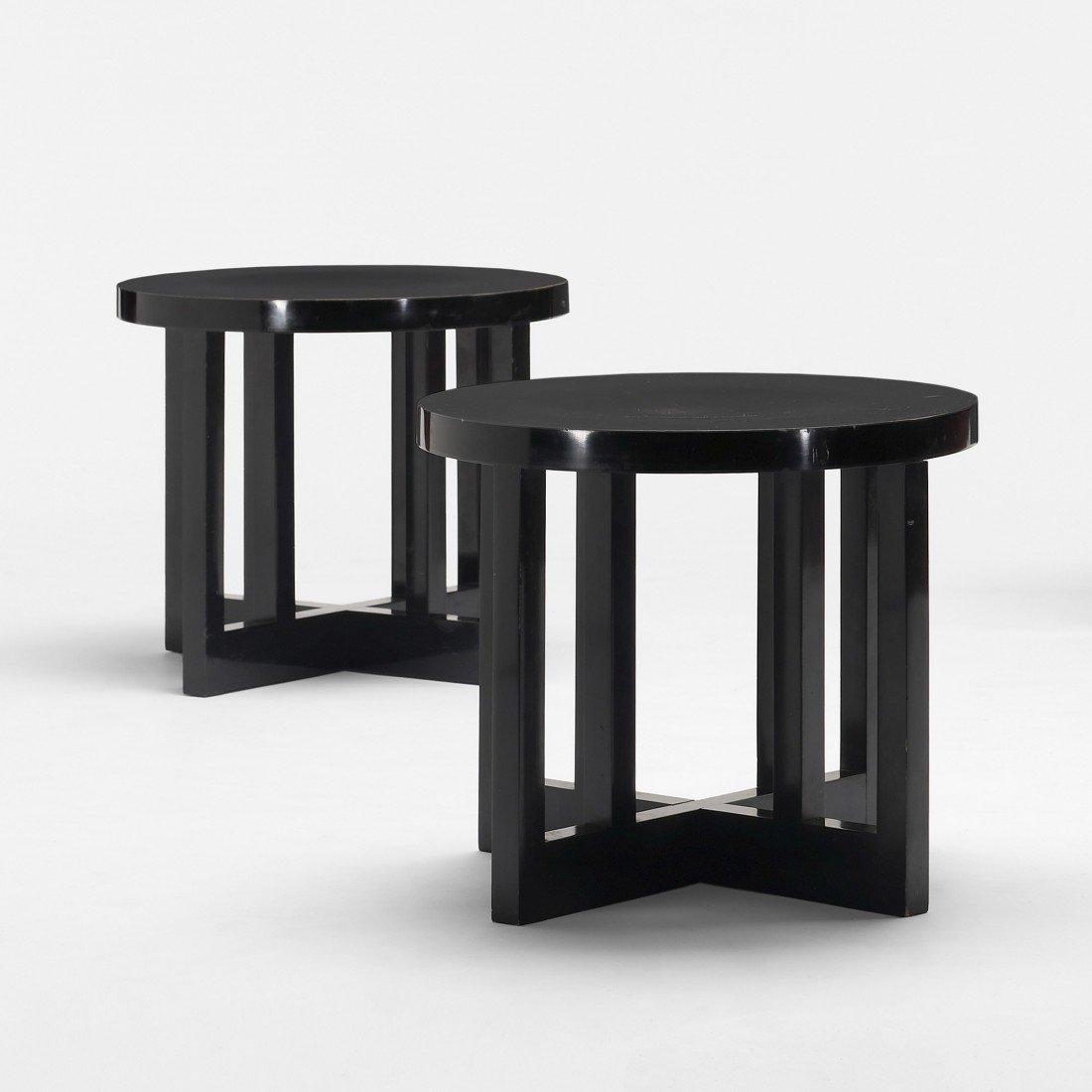 169: Richard Meier Low Stools model 820Y,  pair