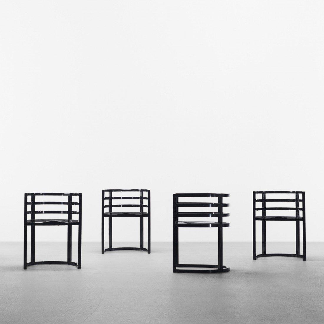 171: Richard Meier armchairs model 810A, set of eight